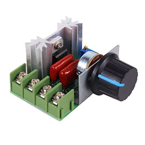 FTVOGUE 2000W Controlador de velocidad del motor de CA 50-220V 25A Regulador de voltaje ajustable Regulador electrónico Regulador del termostato