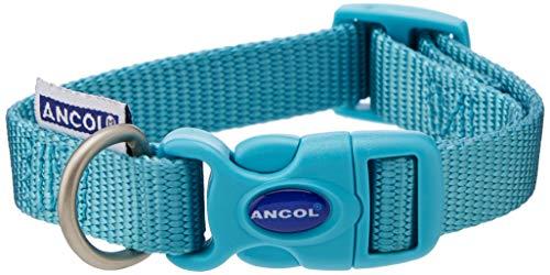 ANCOL Heritage - Collar Ajustable de Nailon, 15 mm x 20-30 cm, Talla 1-2, Color Verde Azulado
