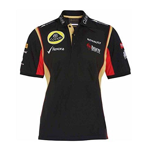 Lotus F1Team patrocinadores Burn Ladies 3Botón Polo, Mujer, Negro