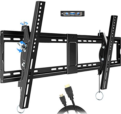 """KDG Tilting TV Wall Mount Bracket Low Profile for Most 40-90 Inch Flat Screen Curved OLED Smart 4K TVs, TV Mount Fits 16""""-32"""" Studs with Loading 165 lbs Max VESA 800x400mm"""