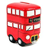 Think Favours Fun Novelty Ceramic Red Routemaster Bus Money Box