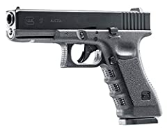 18-shot, .177 caliber BB air pistol with realistic blowback action Powered by a 12-gram CO2 cartridge (CO2 NOT included) Shoots .177 caliber steel BBs at up to 365 fps Features a full metal slide, drop-out metal mag, and realistic controls Fixed Gloc...
