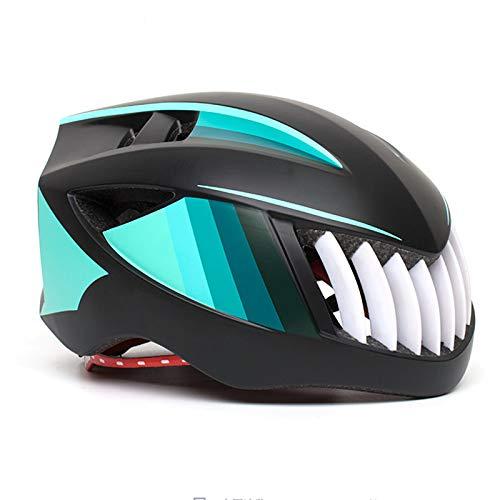 Dagea Casco de Bicicleta Hombre,con Visera extraíble Gafas de luz Trasera de...