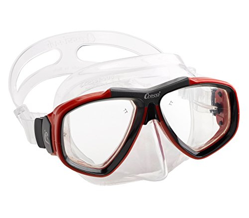 Cressi First Dive Mask with Inclined Lenses for Scuba Diving - Optical Lenses Available | Focus Made Quality Since 1946