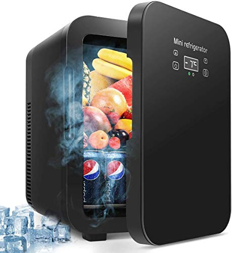 10 Liter Fridge, Large Capacity Compact Cooler and Warmer with Digital Thermostat Display and Control Temperature Car Refrigerator Cooler or Indoor for Bedroom, Office or Dorm