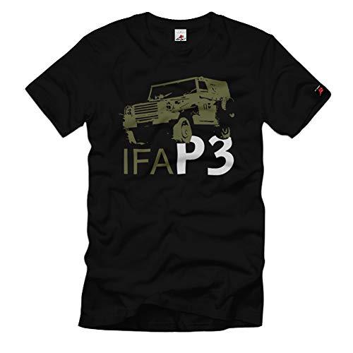 IFA P3 DDR NVA P240 Sachsenring Geländewagen Grentruppen T-Shirt#32529, Farbe:Schwarz, Größe:L