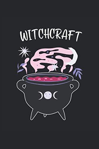 Witchcraft: Brujería caldero mágico bruja wicca regalos cuaderno forrado (formato A5, 15, 24 x 22, 86 cm, 120 páginas)