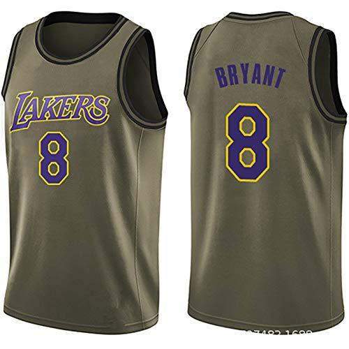 GFGD I Fan di addestramento Jersey Jersey Maniche Traspirante Sportswear commemora Kobe Kobem No. 24 Lakers di Basket Maschile Estate Green-S
