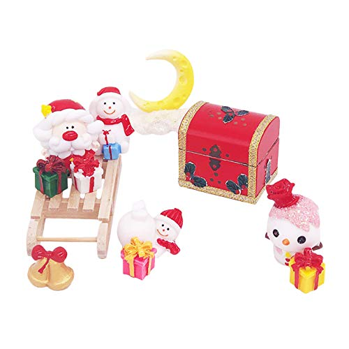 Janly Clearance Sale Education Toys, 1:12 Dollhouse Miniature Christmas Santa Snowman Gift Box Set Pretend Play Toy, Toys and Hobbies for Kid's Gift (Red)