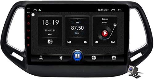 LYHY Navigazione GPS multimediale per autoradio Android 10 Stereo per Jeep Compass 2017-2019, Supporta Autoradio per Auto/DSP FM RDS/Sistema Bluetooth/Carplay Android Auto/Controllo del Volante, 7