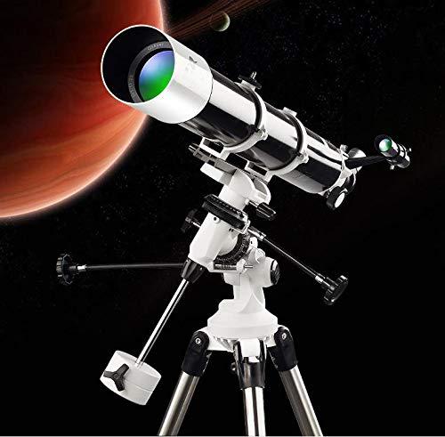 WUAZ Telescopios para astronomía, telescopio Refractor de 80 mm portátil para el Profesional con el trípode...