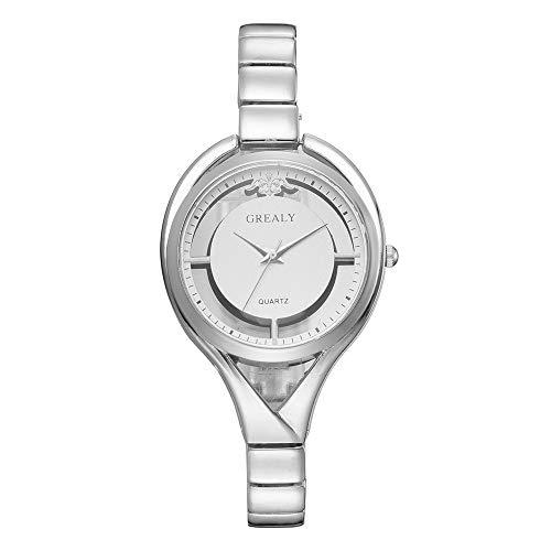 Reloj De Aleación Simple De La Aleación De La Femenina De La Aleación De Moda De La Moda, Plata