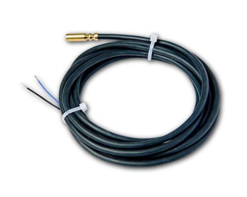 Sonda de temperatura PT1000 cable silicona. Sensor del captador