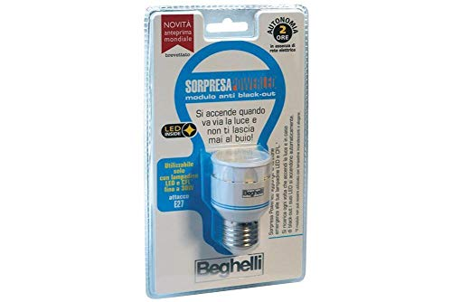Beghelli Sorpresa Powerled Portalampada Anti Black-out, Bianco