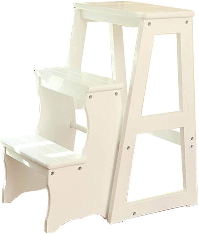 3step Solid Wood Ladder Multifunction Folding Stool Living ...