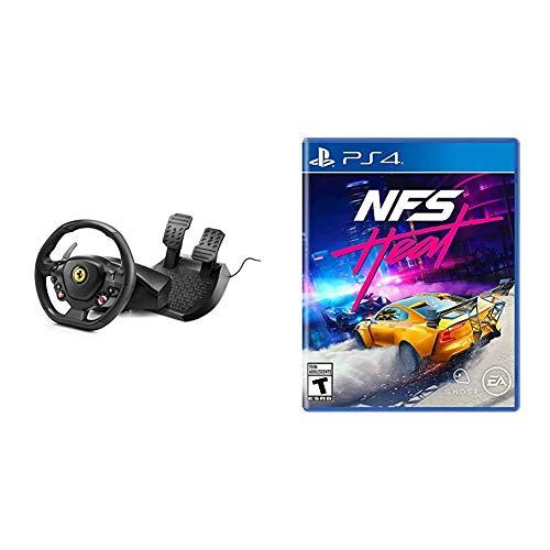 Thrustmaster T80 Ferrari 488 GTB Edition Racing Wheel PS4 & Need for Speed Heat - PlayStation 4