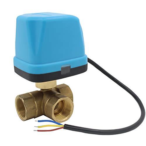 3 wege motorkugelhahn 230v - ventil elektrisch kugelventil elektrisch 220v - 1/2 3/4 1 1-1/4 1-1/2 2 zoll (DN20-3/4 zoll)