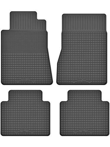 KO-RUBBERMAT Gummimatten Fußmatten 1.5 cm Rand geeignet zur Mercedes E-KL. W124 (1985-1995) ideal angepasst 4 -Teile EIN Set