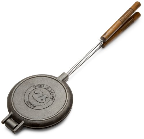 Rome's 1028 Chuckwagon Waffle Iron, Cast Iron, One Size, Gray
