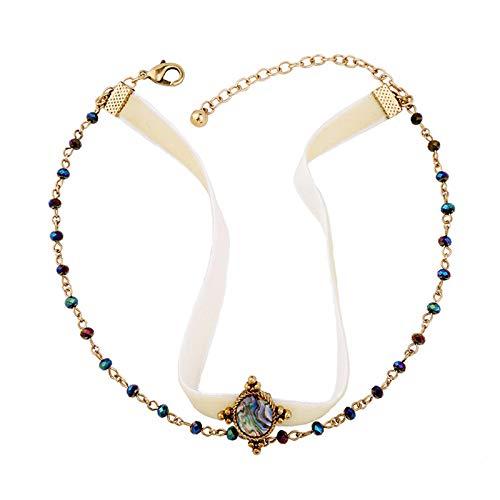 Lady Necklace elegante MultiStore Terciopelo de terciopelo Cuello corto Cuello Collar de niña