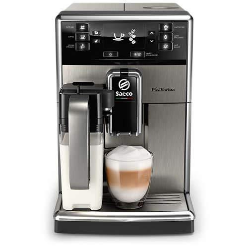 Saeco PicoBaristo SM5473/10 Kaffeevollautomat, 10 Kaffeespezialitäten (integriertes Milchsystem) edelstahl