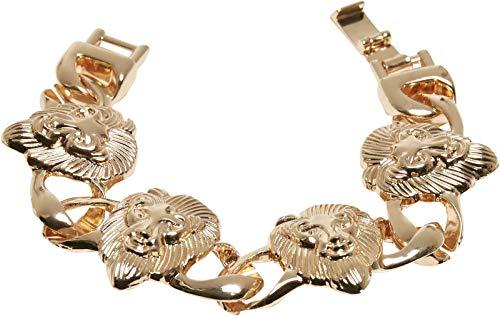 Pulsera de Lion, dorada, L/XL