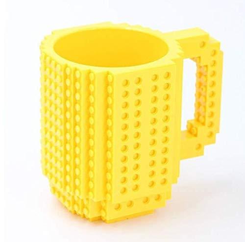 xiaojing Taza De Leche Creativa Taza De Café Creativo Build-On Taza De Ladrillo Copas Soporte para Agua Potable para Bloques De Construcción Lego Diseño 350Ml