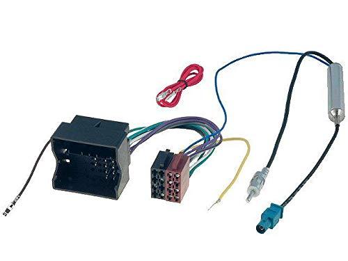 Adaptateur ISO autoradio compatible avec VW ap02 + Adaptateur Antenne