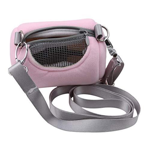 VektenxiPet Bag Tragbare Pet Shoulder Tragetasche Hamster Rat Hedgehog Chinchilla Ferret Tragetasche Tasche für Kleintiere, Pink Kostengünstige und Gute Qualität
