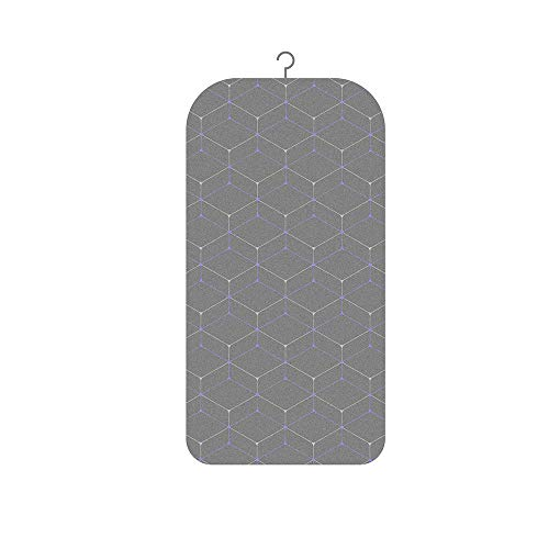 Exclen - Alfombrilla de planchar para colgar, tabla de planchar plegable, tabla de planchar portátil para mesa y colgar, tamaño 35 x 17,5 cm