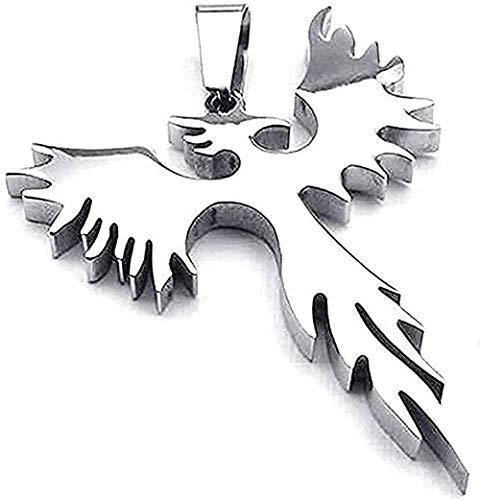 LDKAIMLLN Co.,ltd Collar Colgante Moda Hombre Joyería Collar - Cadena - Phoenix Firebird - Tribal - Acero Inoxidable - Fantasía - Hombres y Mujeres - Regalo Color Plata para Mujer Hombre Regalo