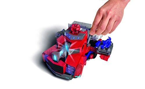 Dickie Toys 203116003 - Optimus Prime Battle Truck, verwandelbares Transformers Fahrzeug, 23 cm