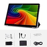Tablet Android 9.0 3G, 4 GB + 64 GB, tablet Android con schermo IPS HD da 10,0 pollici, 2 slot per schede SIM, quad-core, 1,3 GHz, Bluetooth, WiFi, GPS, doppia fotocamera, nero