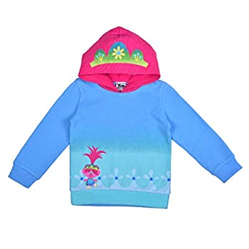 Universal Trolls World Tour Girl s Queen Poppy Fashion Hoodie with Tiara Blue Size 4T