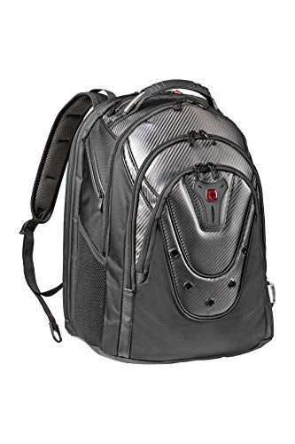 Wenger 605498 Ibex 17' Backpack with Shock Absorbing Shoulder Straps In Carbon Fibre {26...