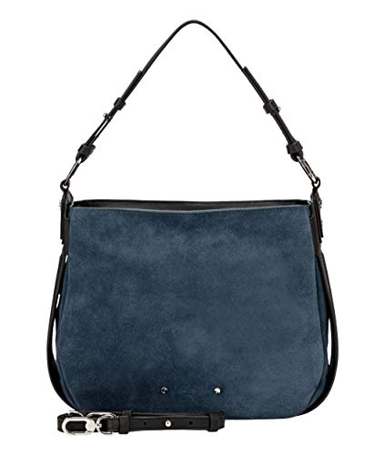 Liebeskind Berlin Damen-Schultertaschen, Double Pipe Hobo, Small, china blue