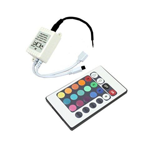 Silver Electronics Controlador RGB Con Mando para Tira LED, Blanco