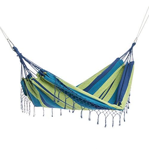 Ultranatura Double Hammock, Bali-Serie, attraktiver Stil & robustes Design, hochwertiges Material und maschinenwaschbar, Liegefläche ca. 220 cm x 160 cm, bis zu 200 kg tragen. Tragetasche inklusive