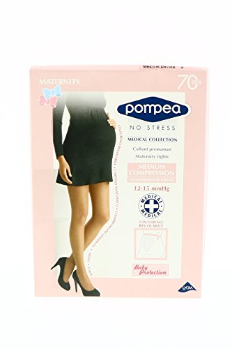 POMPEA NO STRESS MEDICAL COLLECTION COLLANT PREMAMAN MATERNITY TIGHTS 70 DEB