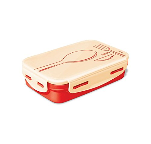 Milton Steely Insulated Stainless Steel School Lunch Box Small 525ml, Orange