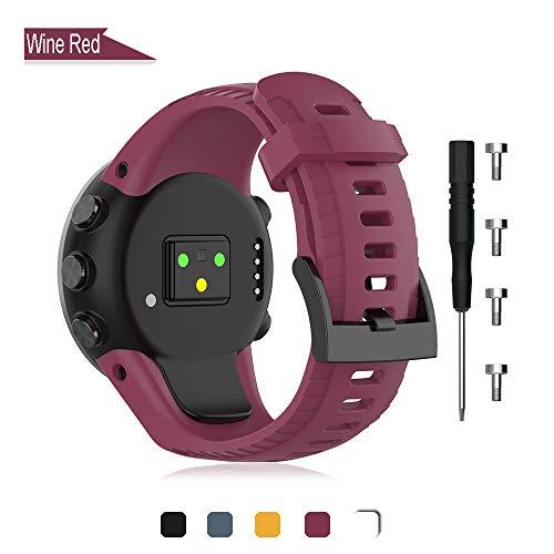 Armband compatibel met Suunto 5 Watch, vervangende siliconen horlogebandjes polsbandjes fitness horlogeband sporthorloge wisselarmbanden voor Suunto 5 Smartwatch