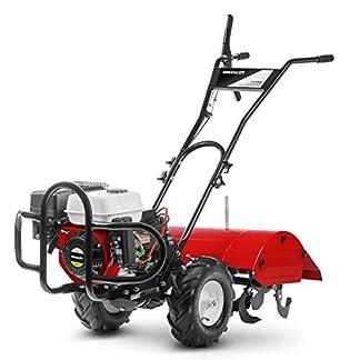 Greencut GTC220XE Motocultor de Gasolina 7 CV Potente con Arranque Electrico, Rojo, 70 cm