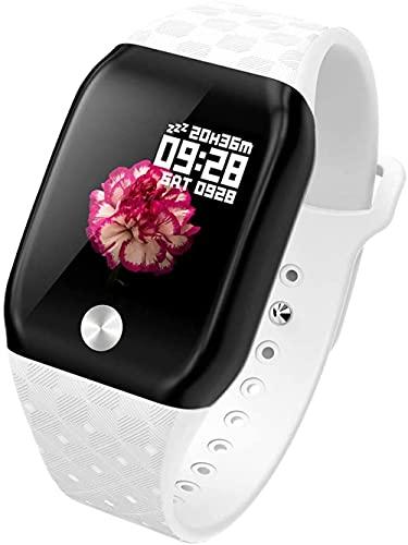Reloj inteligente IP67 impermeable monitor de frecuencia cardíaca contador de calorías Bluetooth 4 0 modos deportivos pantalla a color para mujeres y hombres-blanco