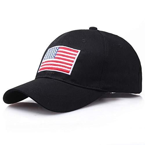 YIJIUE Personalidad algodón casquillos del sol gorra de béisbol de la bandera americana de algodón papá sombrero bordado del algodón del estilo del sombrero Recuerdos EE.UU. transpirable Protección So