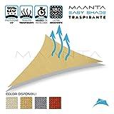 Maanta EasyShade - Cortinas con toldo EasyShade Breathable-HDPE 180 g/m², Beige