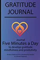 Gratitude journal: Journal Five minutes a day to develop gratitude, mindfulness and productivity By Simple Live 7035