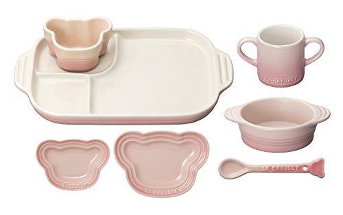 ルクルーゼ ベビー テーブルウェア セット 子供用 食器セット 耐熱 ミルキーピンク