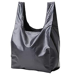 [STREAM]折りたたみ ポケットに入る メンズ エコバッグ コンビニ 防水 透湿 Mサイズ (ブラック)