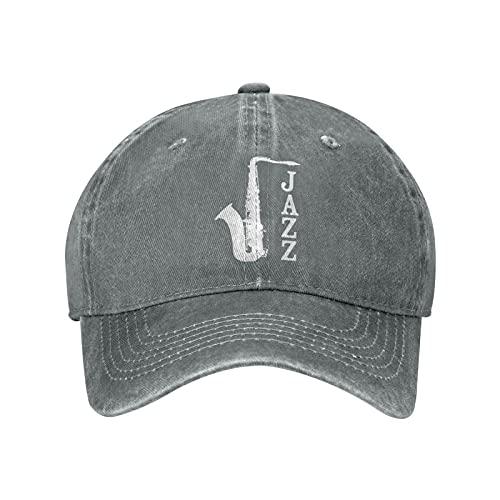 Jopath Jazz Music Hats, Unisex Vintage Gorra de béisbol ajustable clásico Papá sombrero Trucker Hat, gris, Talla única