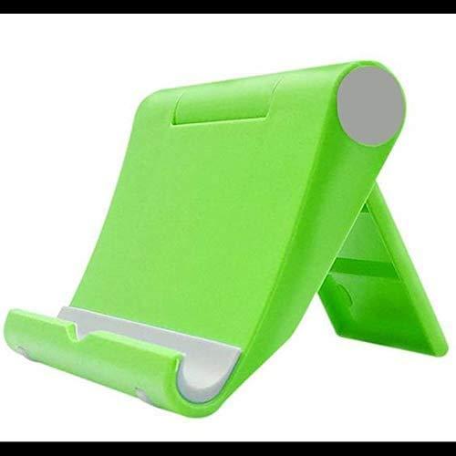 Soporte para Tableta Soporte para teléfono móvil Soporte de Escritorio Universal para teléfono Plegable Multifuncional Ajustable Creativo Antideslizante (Verde)